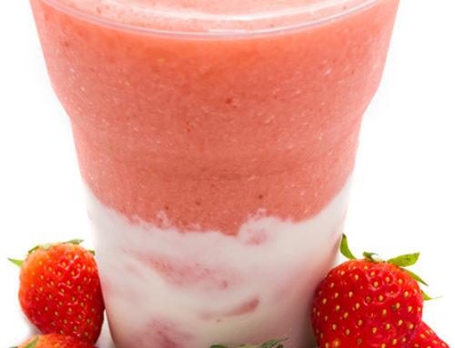 Horchata over Strawberry Ice Slush