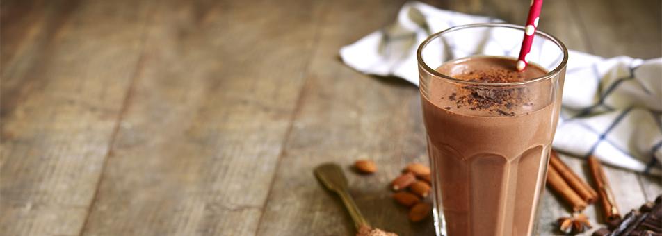 Batido calentito de Kamut al cacao