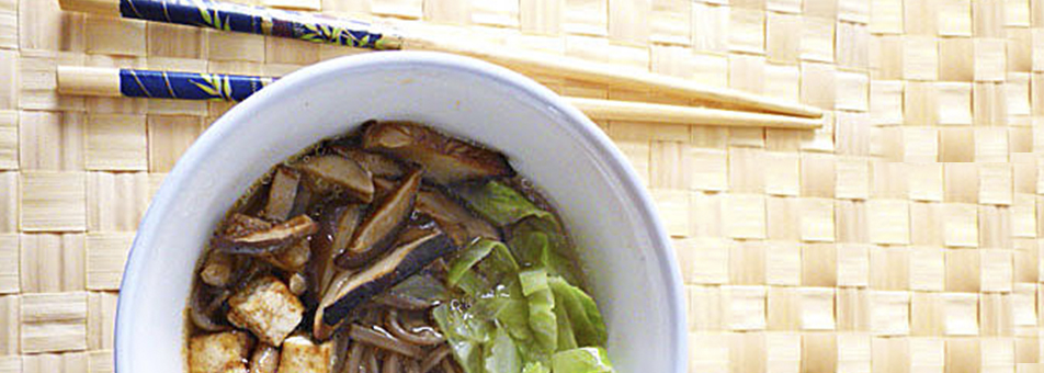 Sopa Sobu con Tofu y Verduras