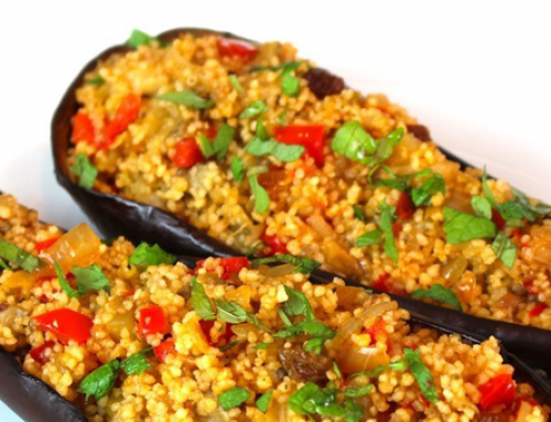 Berenjenas con verduras y cuscús