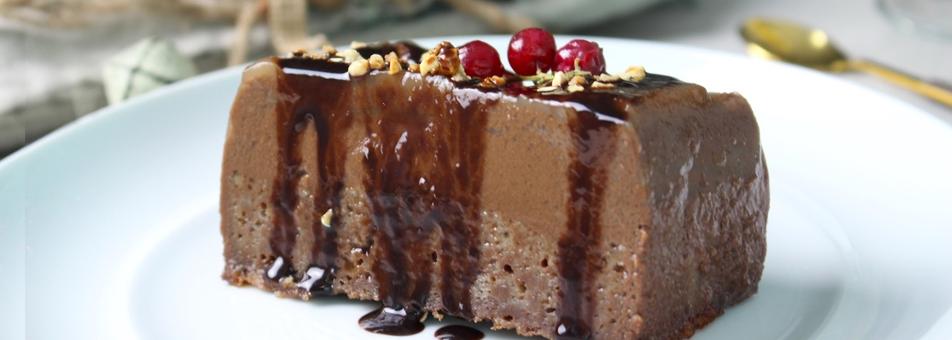 Pudin de chocolate (sin lácteos)